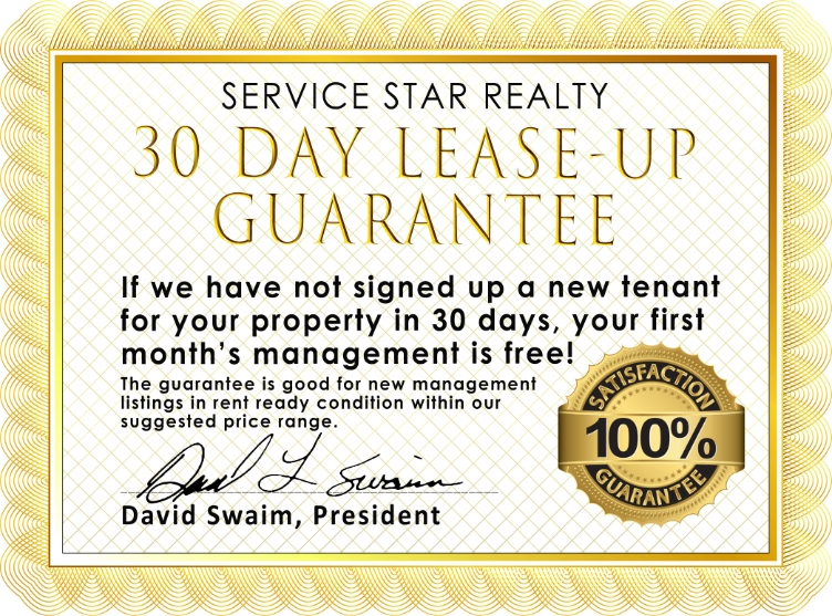 30 Day Lease-Up Guarantee